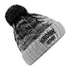 View the KRONK Detroit Cable Knit Bobble Hat Black/Light Grey online at Fight Outlet