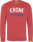 View the Kronk Detroit Iconic Sweatshirt Vintage Red online at Fight Outlet