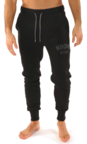 View the Kronk Detroit Joggers Regular Fit Black with Charcoal Applique logo online at Fight Outlet