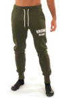 View the Kronk Detroit Joggers Regular Fit Military Green with White Applique logo online at Fight Outlet