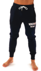 View the Kronk Detroit Joggers Regular Fit Navy with White Applique logo online at Fight Outlet