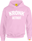 View the Kronk Detroit Ladies Hoodie Pink/White online at Fight Outlet