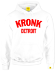 View the Kronk Detroit Ladies Hoodie White/Red online at Fight Outlet