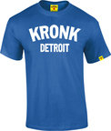 View the Kronk Detroit T Shirt Royal/White online at Fight Outlet