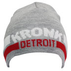 View the KRONK Detroit Two Stripe Beanie Hat Grey online at Fight Outlet