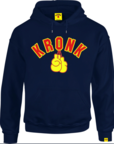View the KRONK Gloves Applique Hoodie Regular Fit Navy with Red & Yellow logo online at Fight Outlet
