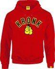 View the KRONK Gloves Applique Hoodie Regular Fit Red with Black & Yellow logo online at Fight Outlet