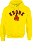 View the KRONK Gloves Applique Hoodie Regular Fit, Yellow online at Fight Outlet