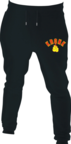 View the Kronk Gloves Joggers Regular Fit Black with Red & Yellow Applique logo online at Fight Outlet