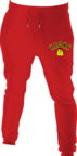 View the Kronk Gloves Joggers Regular Fit Red with Black & Yellow Applique logo online at Fight Outlet