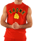 View the KRONK Gloves Sleeveless T Shirt Red/Black/Yellow online at Fight Outlet