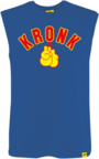 View the KRONK Gloves Sleeveless T Shirt Royal Blue/Red/Yellow online at Fight Outlet