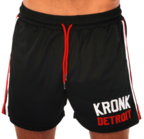 View the KRONK Iconic Detroit Applique Lined Shorts Black/White/Red online at Fight Outlet