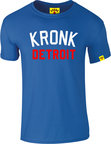 View the KRONK Iconic Detroit Slim fit T Shirt Royal Blue online at Fight Outlet