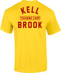 View the KRONK  'KELL BROOK' Training Camp Tee Shirt Yellow online at Fight Outlet
