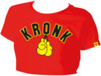 View the KRONK Ladies Gloves Cropped T Shirt Red online at Fight Outlet