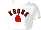 View the KRONK Ladies Gloves Cropped T Shirt White online at Fight Outlet