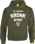 View the Kronk Legendary Detroit Hoodie Since '69 Military Green online at Fight Outlet