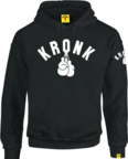 View the KRONK One Colour Gloves Middleweight Hoodie with sleeve print, Black/White online at Fight Outlet