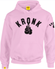 View the KRONK One Colour Gloves Pullover Ladies Hoodie, Pink/Black online at Fight Outlet