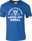 View the KRONK Thomas 'The Motor City Cobra'  Hearns Slimfit T shirt, Royal Blue online at Fight Outlet