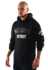 View the KRONK Two Colour Detroit Middleweight Hoodie with sleeve print, Black online at Fight Outlet