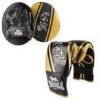 View the Lonsdale Club Junior Glove And Pad Set, Black/Gold online at Fight Outlet