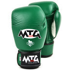 View the MTG-VG1 MTG Pro Green Velcro Boxing Gloves online at Fight Outlet