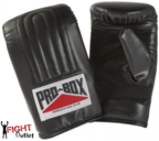 View the Pro Box 'BLACK COLLECTION' PU Pre-shaped Punch Bag Mitts/Gloves online at Fight Outlet