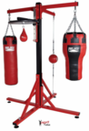 View the Pro Box 'COLOSSUS' Four Station Bag Frame with Speedball Platform online at Fight Outlet