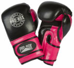 Pro Box ** NEW ** 8oz CHAMP SPAR GLOVES BLACK/FUCHSIA