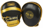 View the PRO BOX *NEW* CHAMP SPAR AIR PADS BLACK-GOLD online at Fight Outlet
