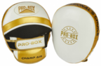 View the PRO BOX *NEW* CHAMP SPAR AIR PADS WHITE-GOLD online at Fight Outlet