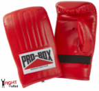 View the Pro Box 'RED COLLECTION' PU Pre-shaped Punch Bag Mitts/Gloves online at Fight Outlet
