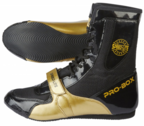 View the Pro Box Speed-Lite Boxing Boots Black/Gold online at Fight Outlet