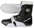 View the Pro Box Speed-Lite Boxing Boots Black/White online at Fight Outlet