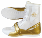 View the Pro Box Speed-Lite Junior Boxing Boots White/Gold online at Fight Outlet