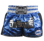 View the Sandee Blue/Carbon/Silver/Black Supernatural Power Shorts online at Fight Outlet