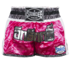 View the Sandee Pink/White/Silver/Black Supernatural Power Shorts online at Fight Outlet