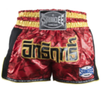 View the Sandee Red/Carbon/Black/Gold Supernatural Power Shorts online at Fight Outlet
