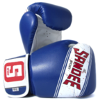 Sandee Sport Velcro Blue/White/Red Synthetic Leather Boxing Glove
