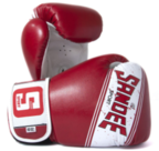 Sandee Sport Velcro Red/Black/White Synthetic Leather Boxing Glove