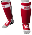 View the Sandee Sport Velcro Red/White Synthetic Leather Boot Shinguard online at Fight Outlet