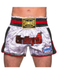 View the Sandee White/Black/Red Supernatural Power Shorts online at Fight Outlet