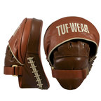 View the Tuf Wear Classic Brown Curved Focus Hook and Jab Pad online at Fight Outlet