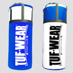 View the Tuf Wear Jumbo Punchbag 4ft, 20 Inch Diameter 40kg Blue/White online at Fight Outlet