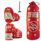 View the Tuf Wear Kids Junior Boxing Set, Red online at Fight Outlet