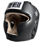 View the Tuf Wear Leather Headguard Full Face Protection online at Fight Outlet