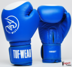 Tuf Wear Target Leather Safety Spar Boxing Gloves Blue/White
