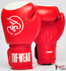 Tuf Wear Target Leather Safety Spar Boxing Gloves Red/White